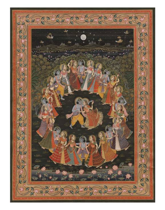 Dance of Divine Love: The Rasa Mandala of Krishna and the Cowher